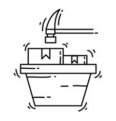 e-commerce pre order hand drawn icon set outline vector image