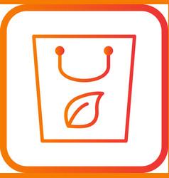 eco bag icon vector image