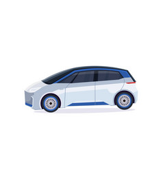 electric car icon eco friendly vehicle city vector image