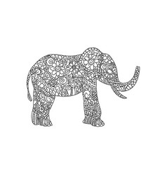 elephant animal ornament vector image
