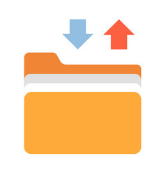 Files transfer flat vector