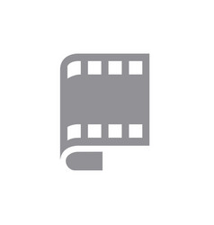 film roll symbol combined with letter p vector image