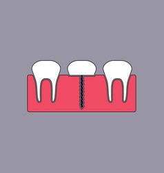 Flat icon design collection teeth and gum vector