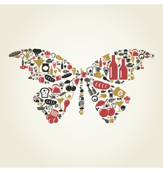 Food the butterfly vector