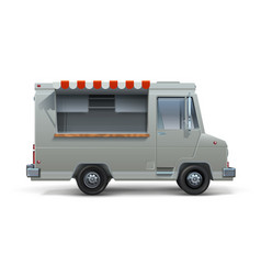 Food truck realistic mockup ice cream or vector