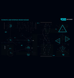 Futuristic user interface design element set 14 vector