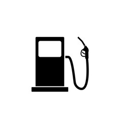 gas station solid icon fuel and refill sign vector image