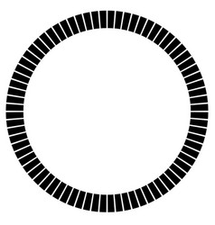 Geometric circle element made of radiating vector