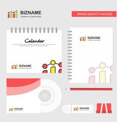 graph logo calendar template cd cover diary and vector image