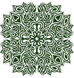 green pattern with clover vector image