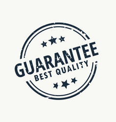 Guarantee best quality stamp vector