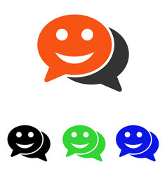 Happy chat flat icon vector