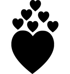 heart icon logo icon sign vector image