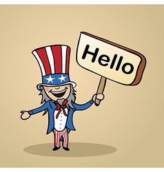 Hello from USA people vector image