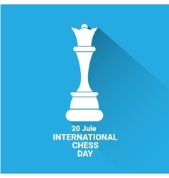 International chess day background chess vector