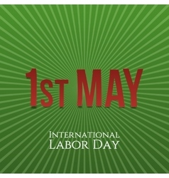International Labor Day May 1st greeting Banner vector image