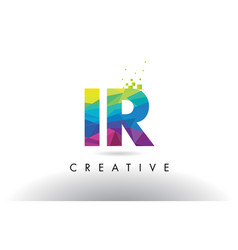 Ir i r colorful letter origami triangles design vector