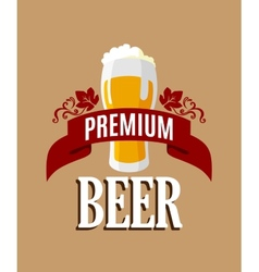 Lager beer banner vector image