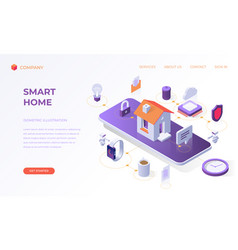 landing page for smart home vector image