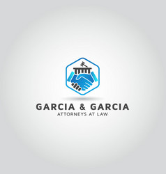 Lawyer legal law firm logo design vector