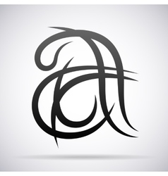 Letter A icon Design template vector image