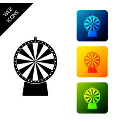 lucky wheel icon isolated on white background set vector image