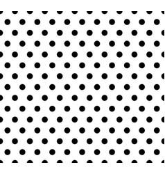 Monochrome dotted polka dot pattern seamless vector