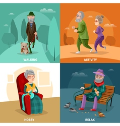 Old People Cartoon Concept vector image