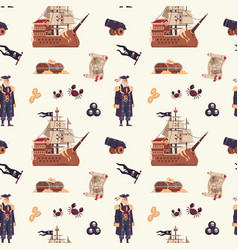 pirate pattern cartoon seamless texture vector image