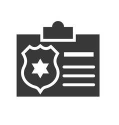 police identity card police related icon vector image