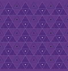 Purple triangles seamless pattern vector