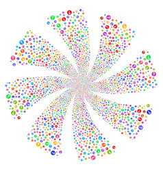 Query fireworks swirl flower vector
