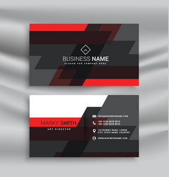 Red and black business card template layout in vector
