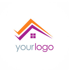roof realty home logo vector image