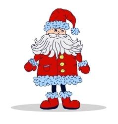 Santa Claus isolated Xmas vector image