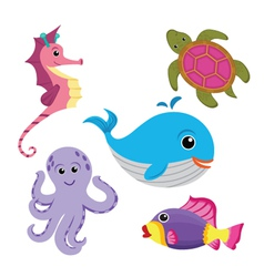 sea life set vector image vector image