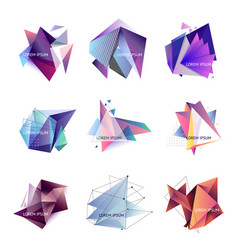 set of abstract triangle vector image