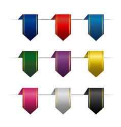 set of colored vertical ribbons vector image