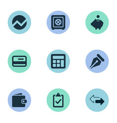 Set of simple banking icons vector