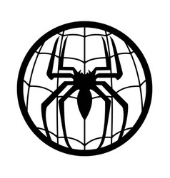 Spiderman logo superhero vector