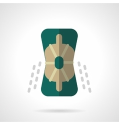 Sport protective accessory flat color icon vector image