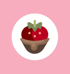strawberry icon sign symbol vector image