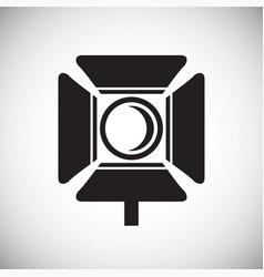 Studio video light icon on white background for vector