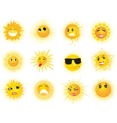 Sun Emoticons vector
