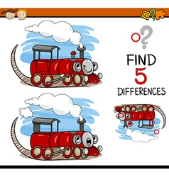 Task of finding differences cartoon vector