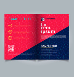 template brochure layout design abstract cube vector image