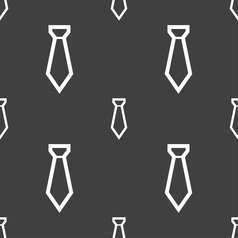 Tie icon sign Seamless pattern on a gray vector