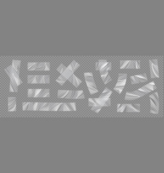 Transparent tape realistic adhesive scotch vector