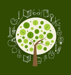 Tree with application icon modern template design vector