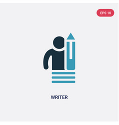 Two color writer icon from people skills concept vector